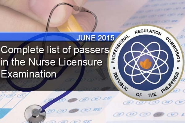 Complete list of passers in the Nurse Licensure Examination  0b18cb3ed6c