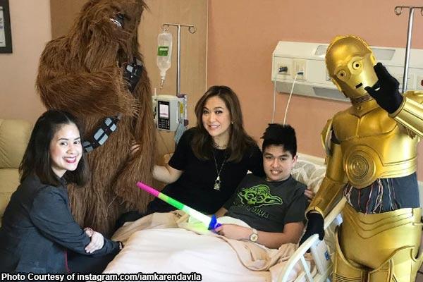 LOOK: Karen Davila, nakasama sina C3PO at Chewbacca sa ospital