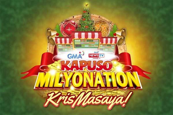 GMA mas pasasayahin pa ang Pasko sa Kapuso Milyonation KrisMasaya promo