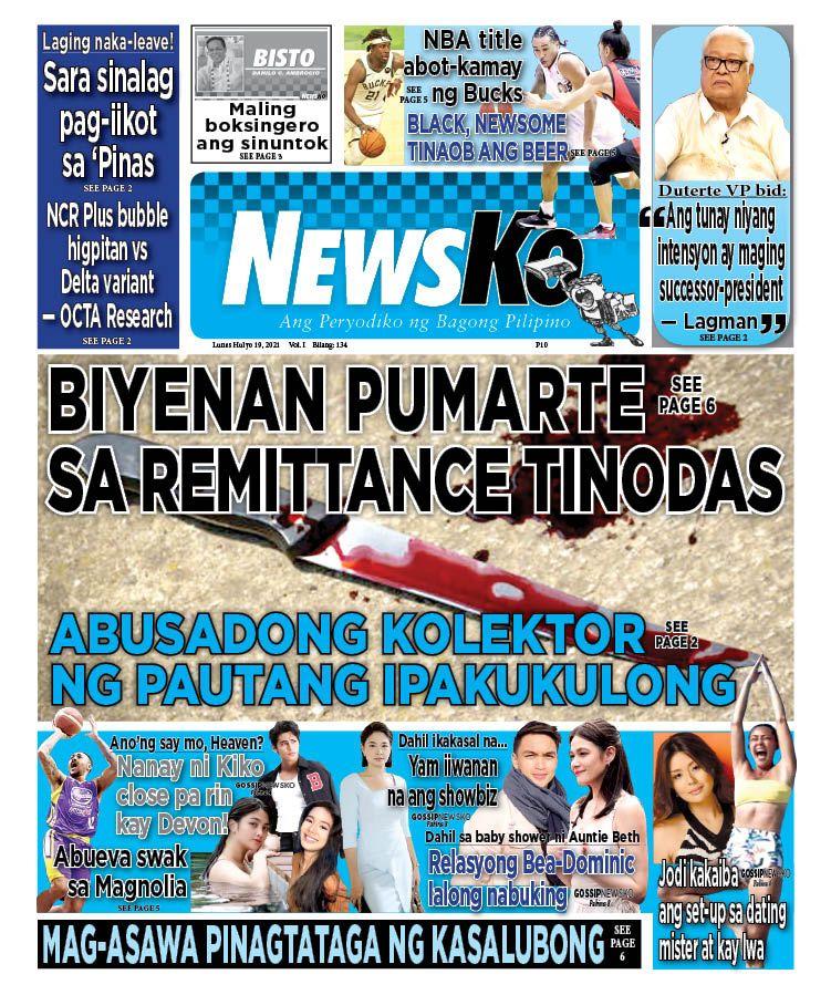 NewsKo, ang peryodiko ng bagong Pilipino isyu ngayon   19 Hulyo 2021