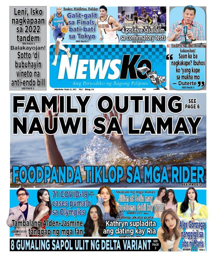 NewsKo, ang peryodiko ng bagong Pilipino isyu ngayon   21 Hulyo 2021