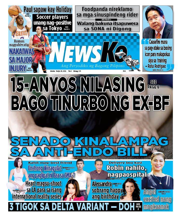 NewsKo, ang peryodiko ng bagong Pilipino isyu ngayon   20 Hulyo 2021