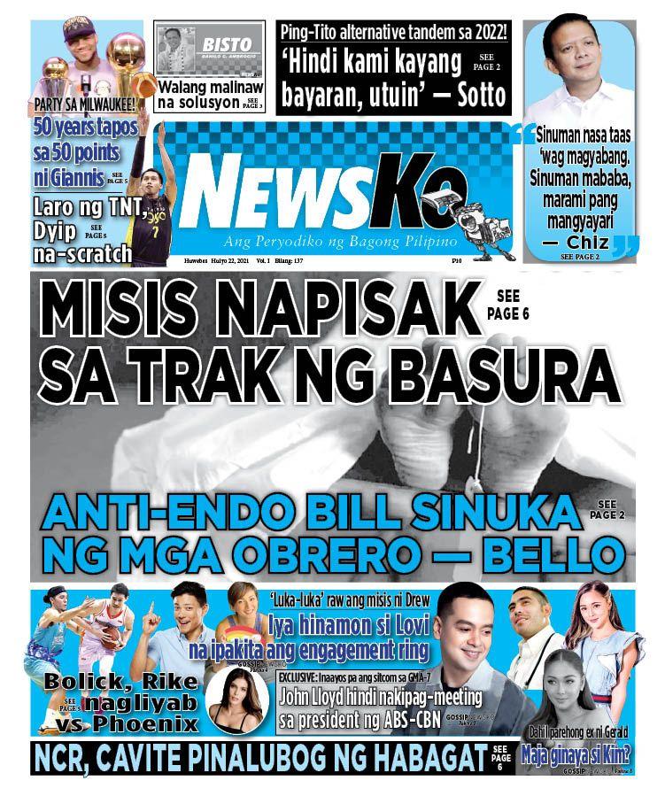 NewsKo, ang peryodiko ng bagong Pilipino isyu ngayon   22 Hulyo 2021