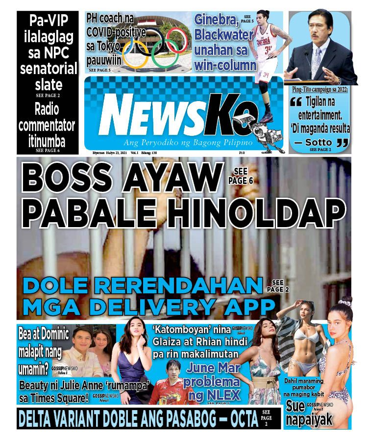 NewsKo, ang peryodiko ng bagong Pilipino isyu ngayon   23 Hulyo 2021