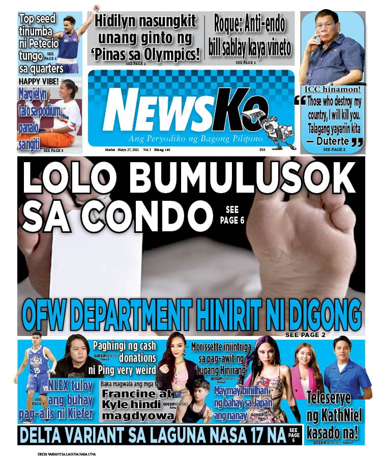 NewsKo, ang peryodiko ng bagong Pilipino isyu ngayon   27 Hulyo 2021
