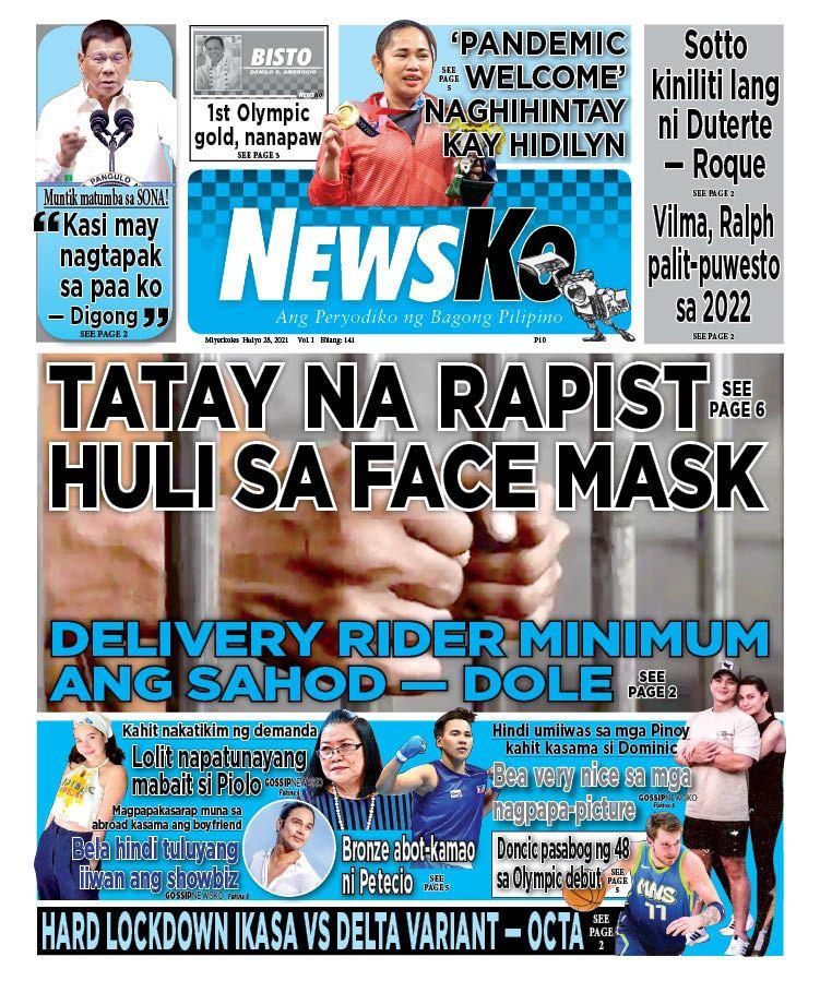 NewsKo, ang peryodiko ng bagong Pilipino isyu ngayon   28 Hulyo 2021