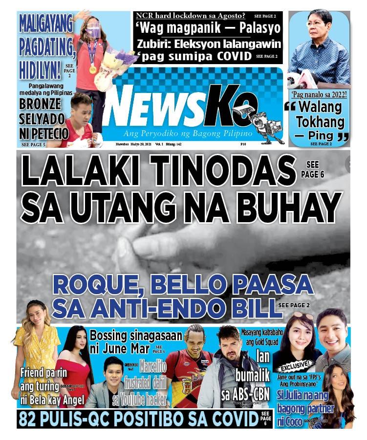 NewsKo, ang peryodiko ng bagong Pilipino isyu ngayon   29 Hulyo 2021