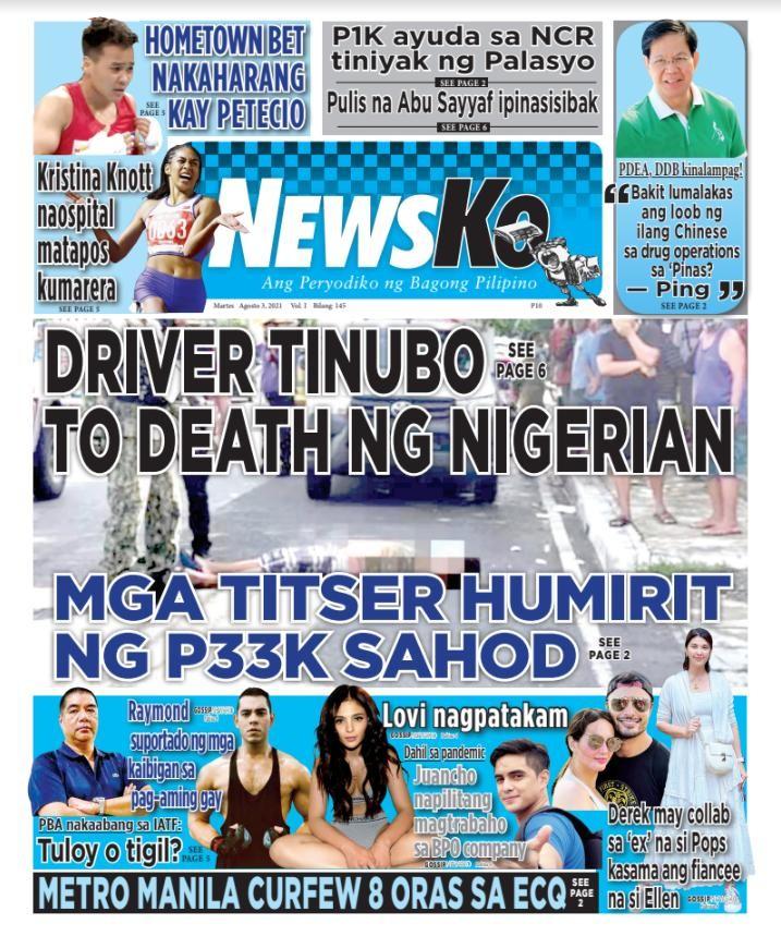 NewsKo, ang peryodiko ng bagong Pilipino isyu ngayon   03 Agosto 2021