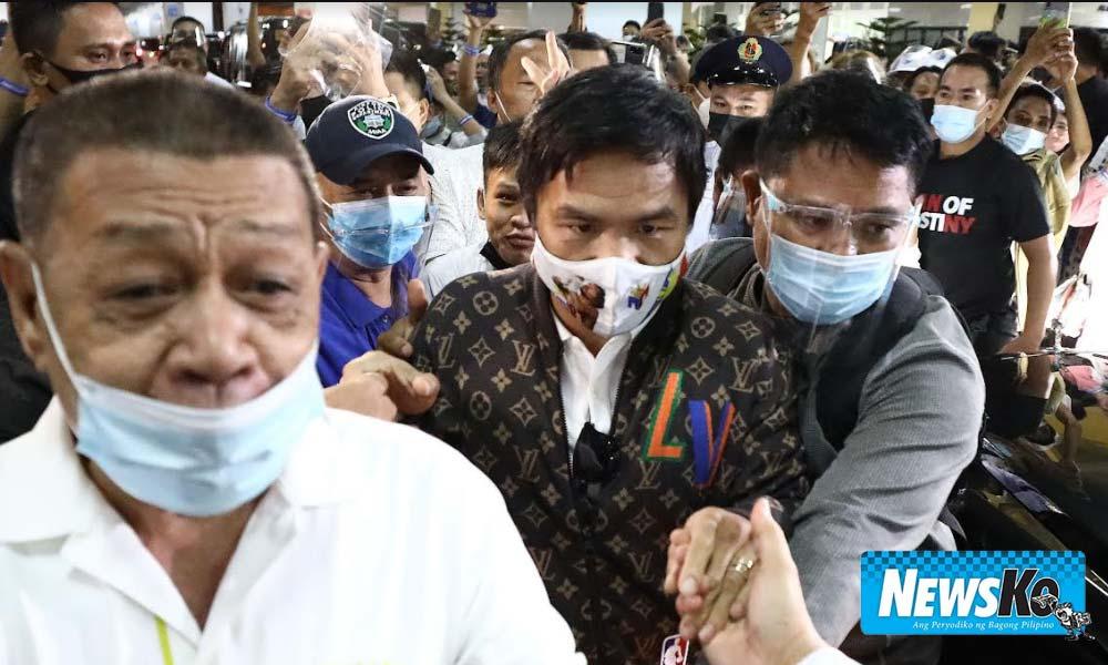 Staff dumukot daw ng pera! Homecoming ni Pacquiao nabalewala social distancing