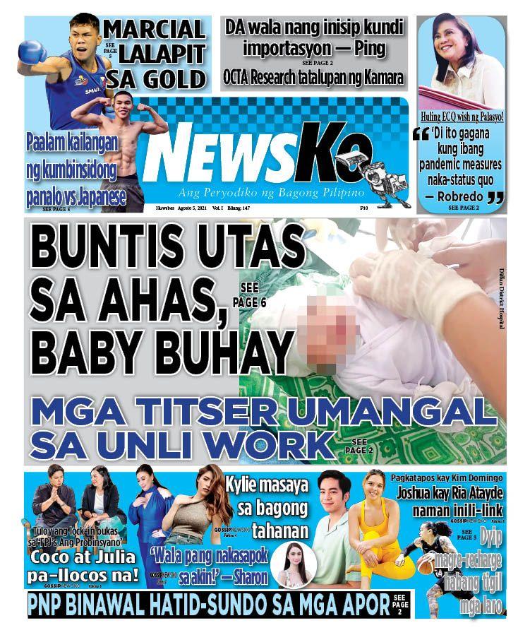 NewsKo, ang peryodiko ng bagong Pilipino isyu ngayon   05 Agosto 2021