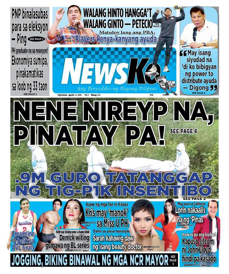 NewsKo, ang peryodiko ng bagong Pilipino isyu ngayon   11 Agosto 2021