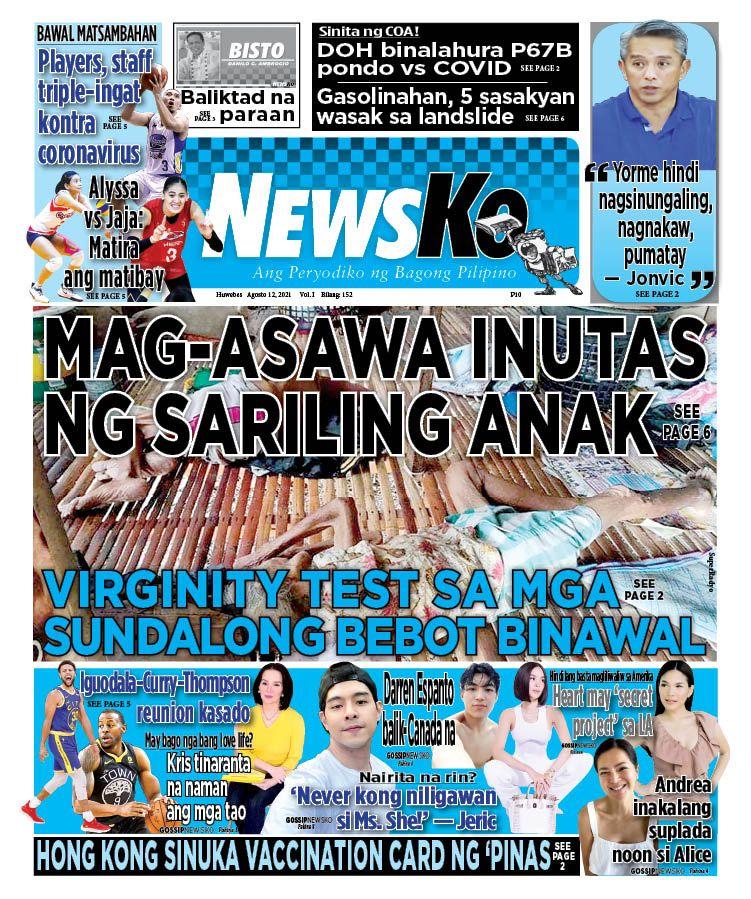 NewsKo, ang peryodiko ng bagong Pilipino isyu ngayon   12 Agosto 2021