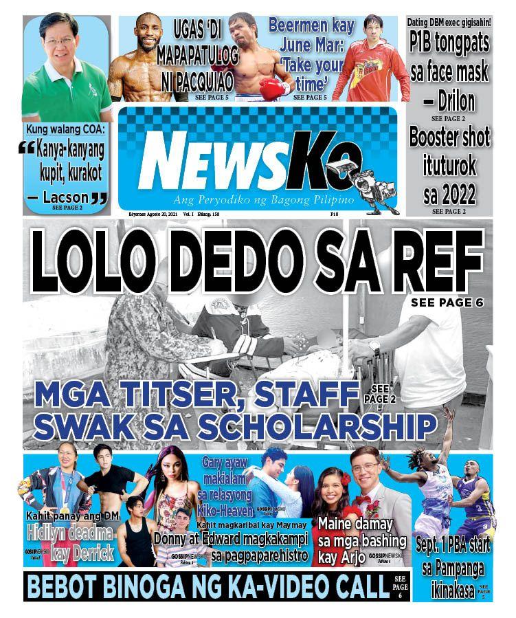 NewsKo, ang peryodiko ng bagong Pilipino isyu ngayon   20 Agosto 2021