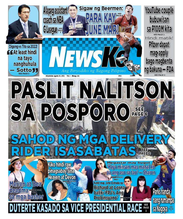 NewsKo, ang peryodiko ng bagong Pilipino isyu ngayon   25 Agosto 2021