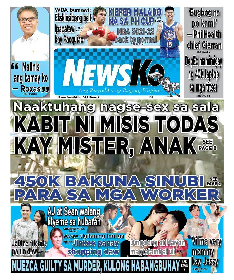 NewsKo, ang peryodiko ng bagong Pilipino isyu ngayon   27 Agosto 2021