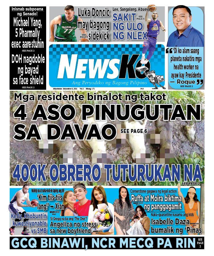 NewsKo, ang peryodiko ng bagong Pilipino isyu ngayon   8 Setyembre 2021