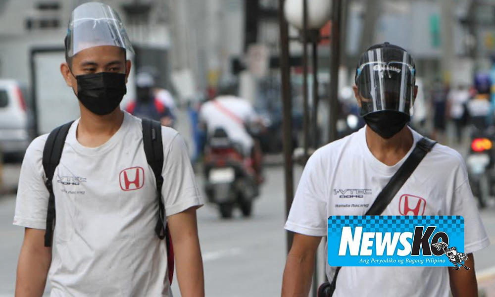 Face shield policy niluwagan
