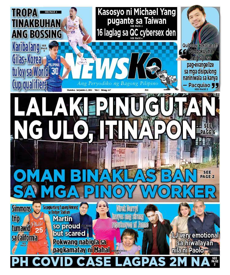 NewsKo, ang peryodiko ng bagong Pilipino isyu ngayon   2 Setyembre 2021