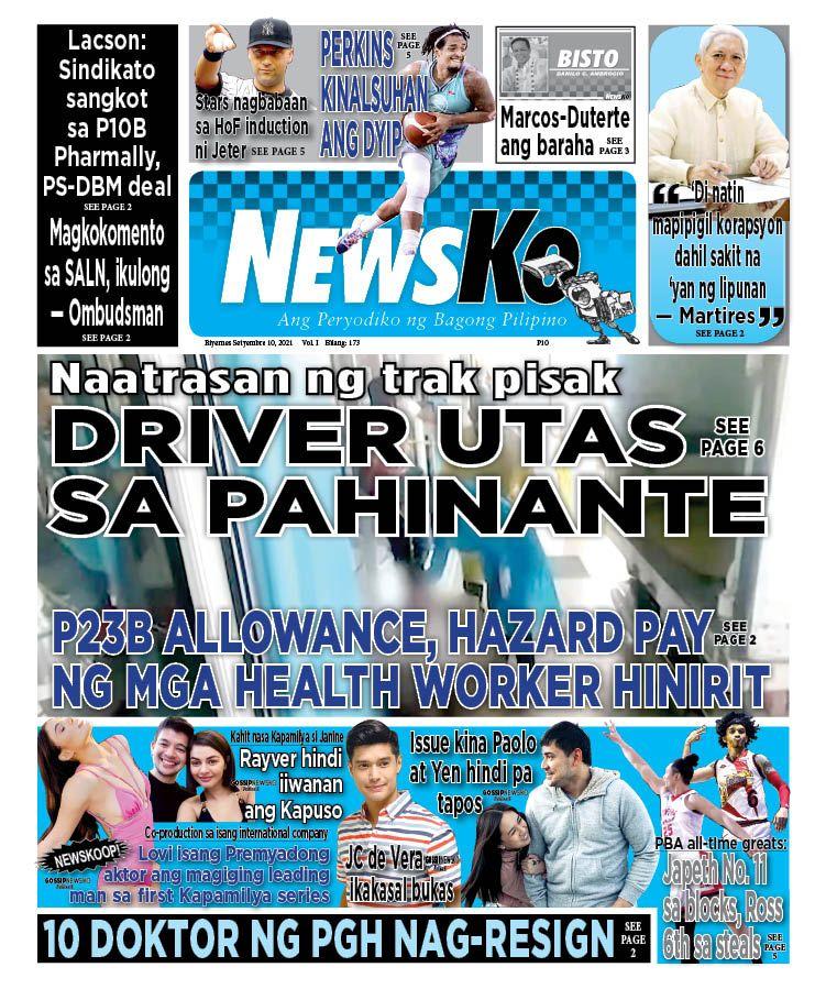 NewsKo, ang peryodiko ng bagong Pilipino isyu ngayon   10 Setyembre 2021